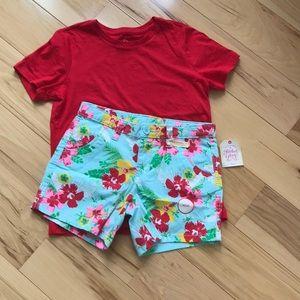 NWT shorts and tee.